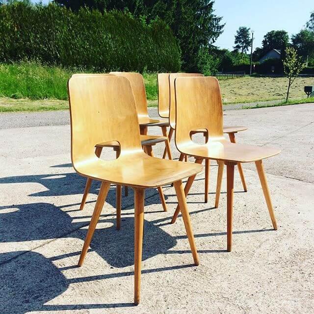 chaises Hans Bellmann par Christophe DAGUET Antiquaire