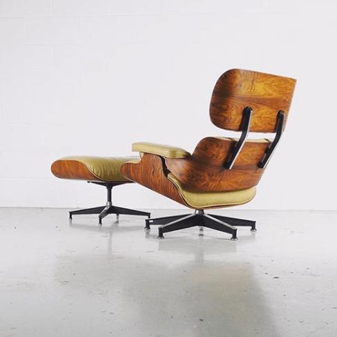 Lounge Chair design Eames © ZigZag Modern sélectionnées pour être présentées sur l'Exposition Eames des Puces du Design en avril 2019